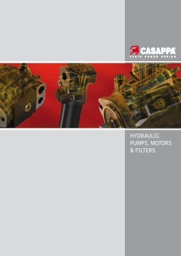 HYDRAULIC PUMPS, MOTORS & FILTERS - Casappa