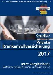 Private Krankenvollversicherung 2017 - Die Studie!