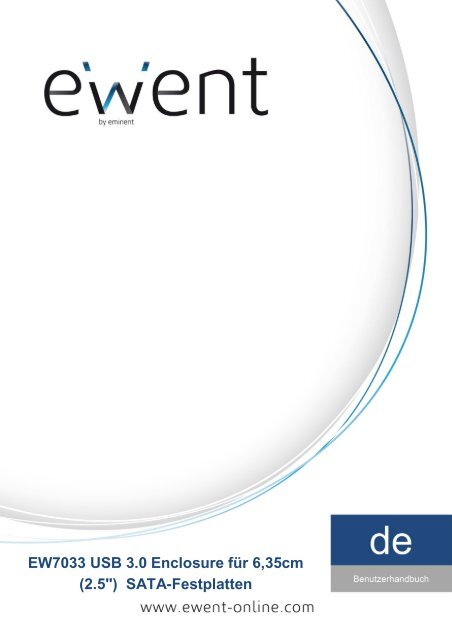 "EW7033 USB 3.0 Enclosure für 6,35cm (2.5"") SATA ... - Icecat.biz"