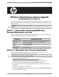 Windows Vista Business Express Upgrade - Hewlett Packard