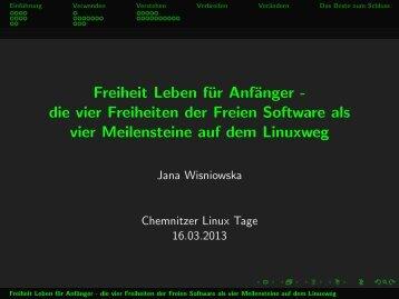 Freiheit Leben für Anfänger - die vier Freiheiten der Freien Software ...