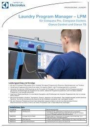 Laundry Program Manager – LPM - Electrolux