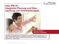 Infor PM 10 – Integrierte Planung und Über- wachung von ...