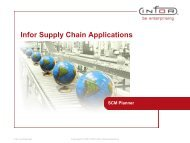 Infor Supply Chain Applications