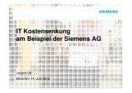 IT Kostensenkung am Beispiel der Siemens AG - INFORA Tagungsplaner
