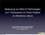 Bedeutung von Web 2.0 Technologien und -Philosophien für Portal ...
