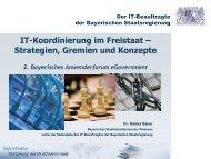 IT-Beauftragter der Bayerischen Staatsregierung - INFORA Tagungsplaner