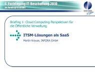 ITSM-Lösungen als SaaS - INFORA Tagungsplaner