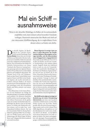 Artikel finanzwelt 06/2011 - Carsten Rehder