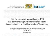 Die Bayerische Verwaltungs-PKI - INFORA Tagungsplaner
