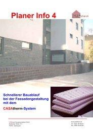 Planer Info 4 Schnellerer Bauablauf bei der ... - Casatherm