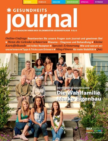 Journal Ausgabe 03/2013 (PDF 5,93 MB) - BKK Gildemeister ...