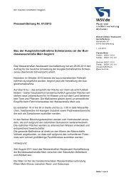 Bau der Ausgleichsmaßnahme Schwarzenau - WSV
