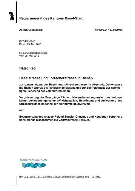 13.0800.01 - Grosser Rat - Kanton Basel-Stadt