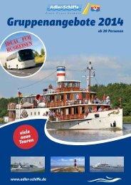 Gesamter Gruppenkatalog 2014 als PDF - Adler Schiffe