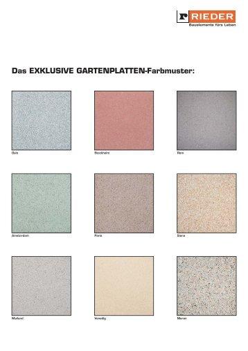 Das EXKLUSIVE Gartenplatten-Farbmuster: