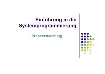 Systemprogrammierung 2