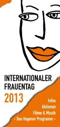 Flyer Internationaler Frauentag - Hagen