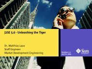 J2SE 5.0 - Unleashing the Tiger