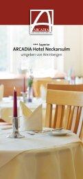 ARCADIA Hotel Neckarsulm - ARCADIA Hotels