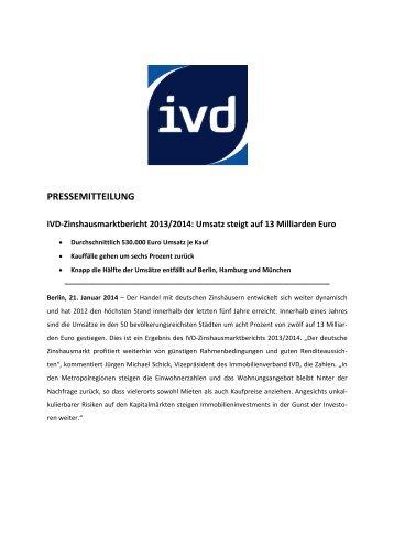 PRESSEMITTEILUNG - IVD