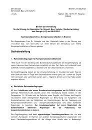 Sachstandsbericht zu Kompensationsflächen in Bremen
