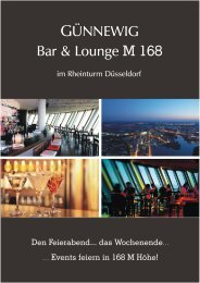 Infobroschüe M168 quer - bei den Günnewig Hotels und Restaurants