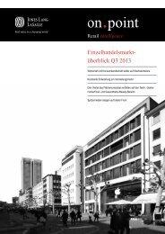 Einzelhandelsmarktüberblick Q3 2013 - Düsseldorf Realestate