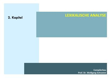 LEXIKALISCHE ANALYSE