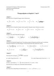 ¨Ubungsaufgaben zu Kapitel 6, 7 und 9 - Fakultät Informatik ...