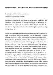 Ansprache des Oberbürgermeisters - Stadt Heidenheim