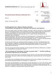 Pressemitteilung des Innenstadtvereins - Stadt Weimar