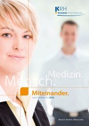 Mensch. Medizin. Miteinander. - Klinikum Region Hannover GmbH