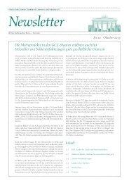 Ghorfa Newsletter 10/2013