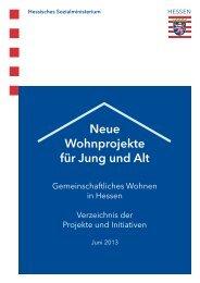Gemeinschaftliches Wohnen in Hessen: Verzeichnis der Projekte