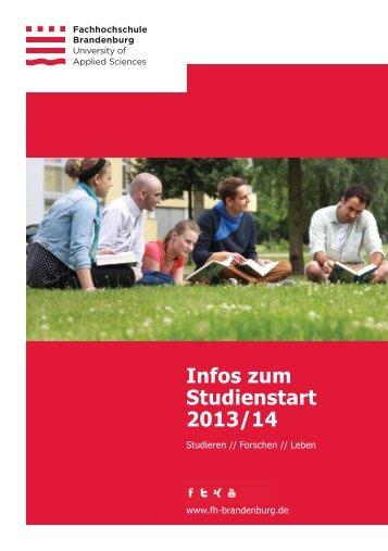 Erstsemesterbroschüre - Fachhochschule Brandenburg