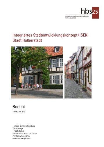Der Link zum Integrierten Stadtentwicklungskonzept Halberstadt 2025