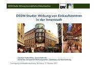 EKZ-Studie - Wirkung innerstädtischer Einkaufszentren