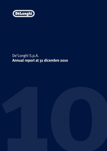 2010De - Investor Relations - De'Longhi
