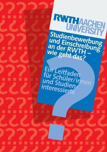 Infobroschüre zur Einschreibung - Fachgruppe Informatik an der ...