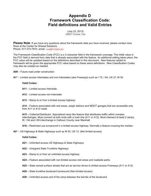 Appendix D FCC version 13 - State of Michigan