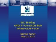 WCI Briefing: ANDI 4th Annual Dry Bulk Infrastructure Forum