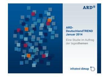 Ergebnisse der Umfrage vom 09. Januar 2014 | pdf - Tagesschau.de