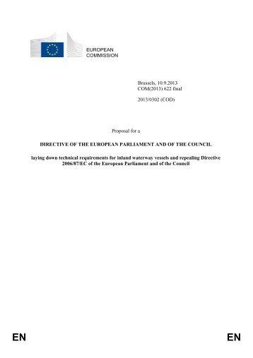 EUROPEAN COMMISSION Brussels, 10.9.2013 COM ... - EUR-Lex