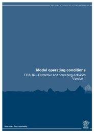 ERA 16-Extractive and screening activities - Department of ...