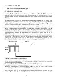 1.2 Elektrische und Magnetische Felder