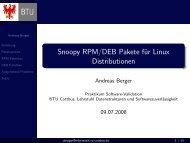 Snoopy RPM/DEB Pakete für Linux Distributionen