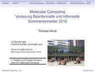 Modelle und Programmiersprachen für DNA-Computer