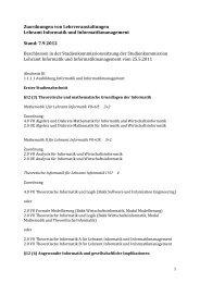Zuordnungen von Lehrveranstaltungen - Fakultät für Informatik, TU ...