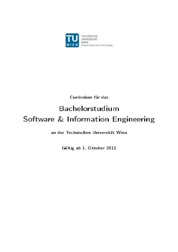 Software & Information Engineering - Fakultät für Informatik, TU Wien